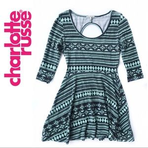 Charlotte Russe • 3/4 Sleeve Fit & Flare Dress